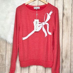 Wildfox bow ribbon red sweater M